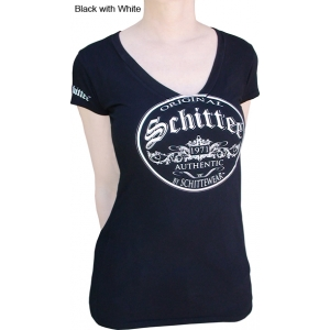 Schittee™ Circle V Short-Sleeved T-Shirts (Women)
